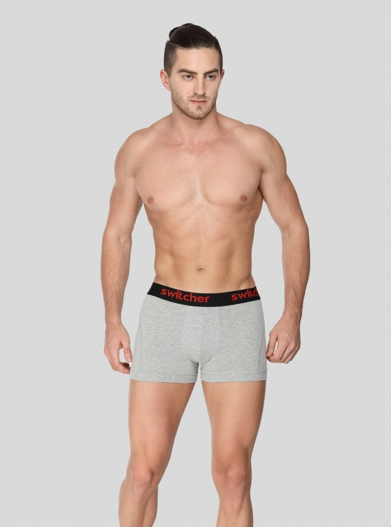 Grey Melange Banded Brief