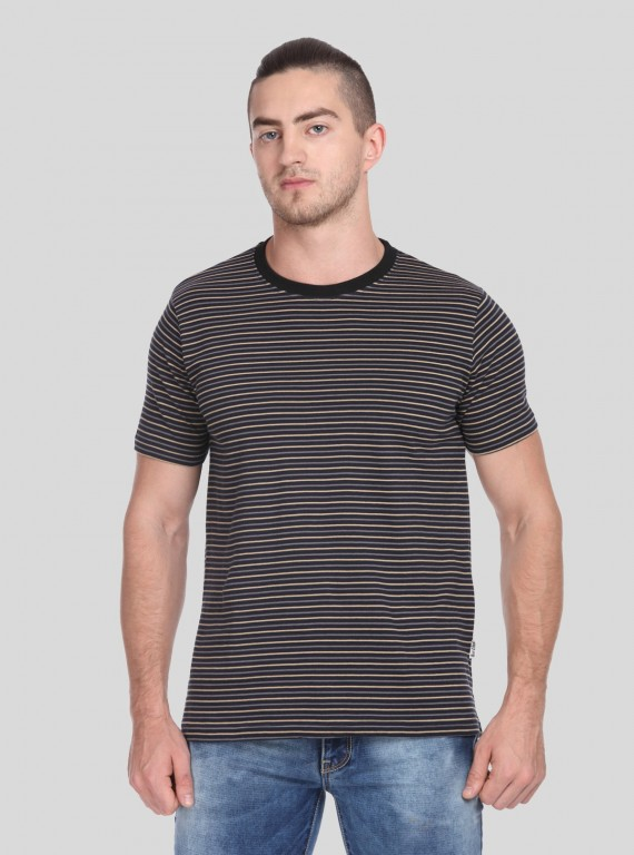 Pin Stripe Round Neck TShirt
