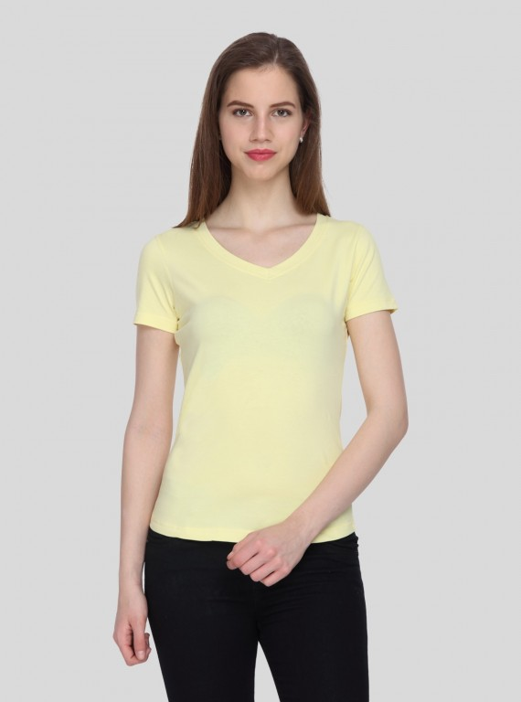 Womens Lemon V Neck  Tee