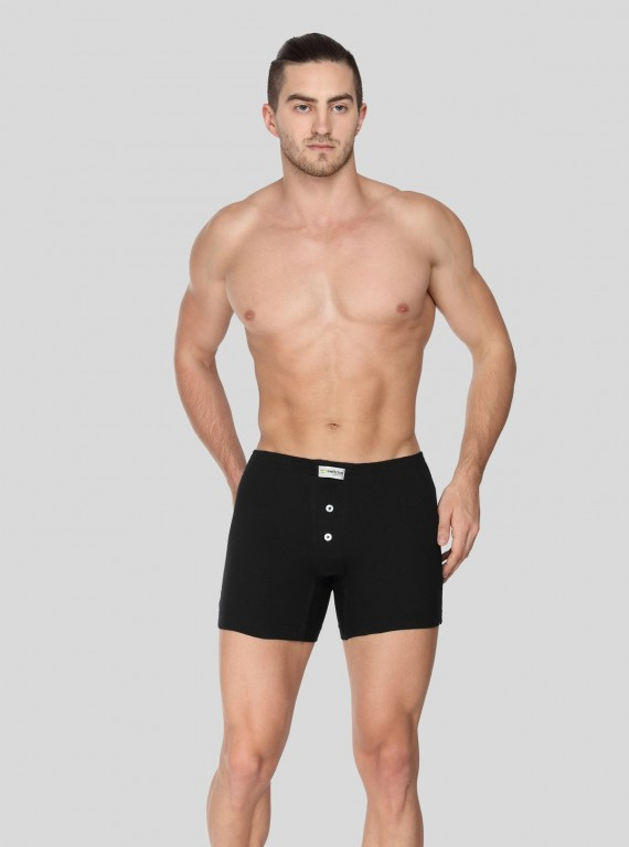 Black Buttoned Boxer Brief