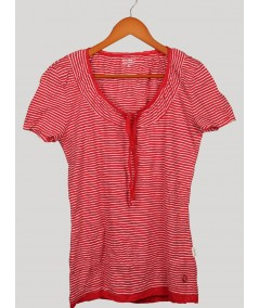 Stripe Red Crushed Top