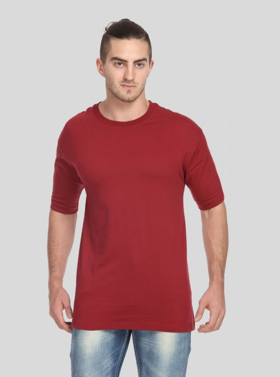Burgundy Basic Crew Neck