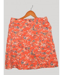 Red Floral Print Skirt