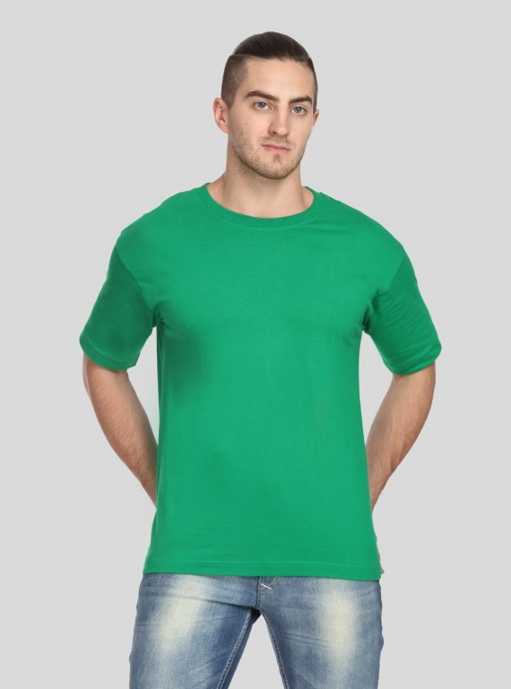 Green Basic Crew Neck TShirt