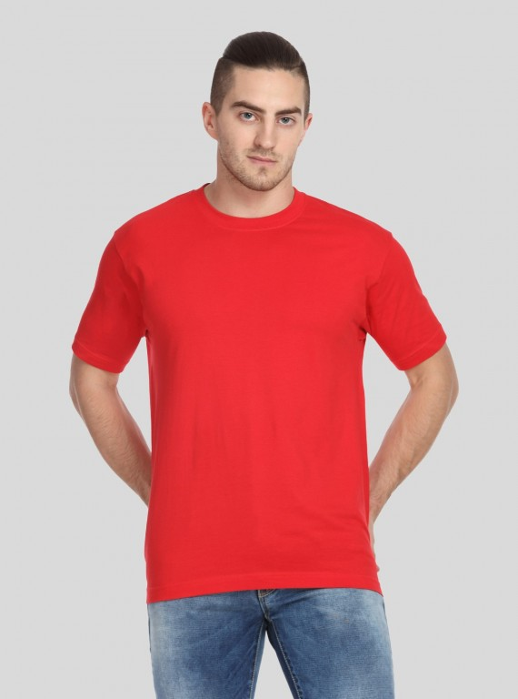 Red Basic Crew Neck TShirt