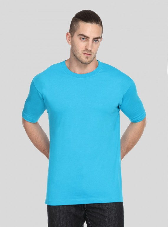 Window Blue Basic Crew Neck TShirt