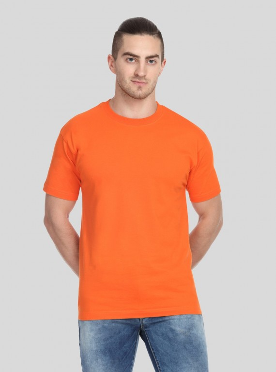 Orange Basic Crew Neck TShirt