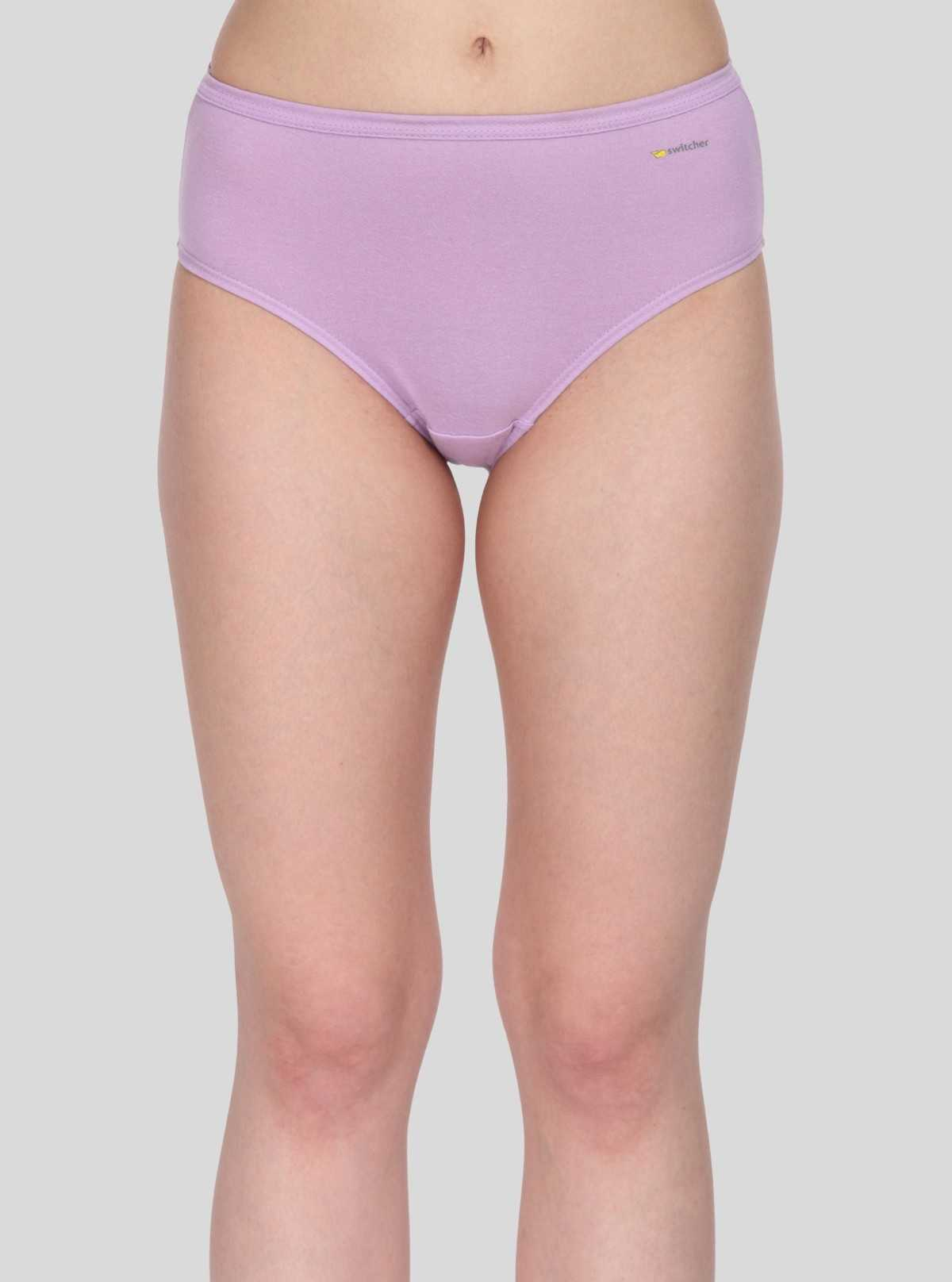 Lilac Solid womens brief