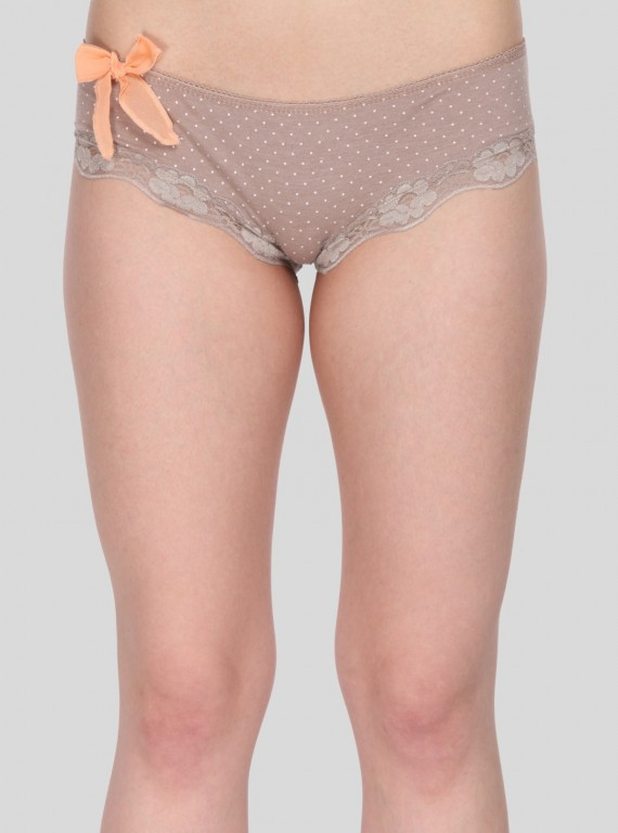 Brown Print Womens Brief