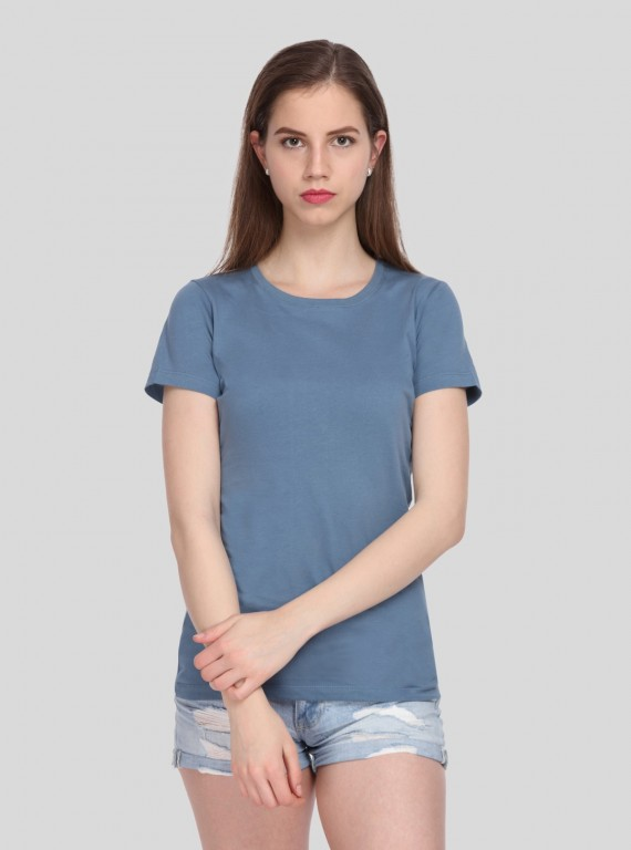 Dust Blue Crew Neck TShirt