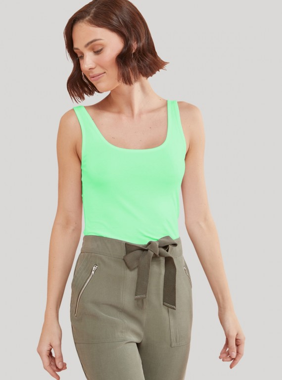 Magic Green Sleeveless Stretch Top
