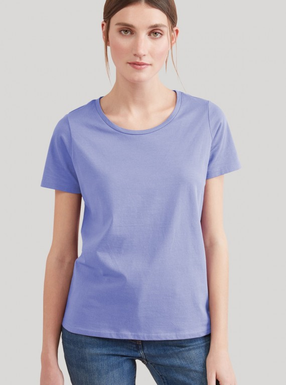 Purple Womens Crew Neck TShirt