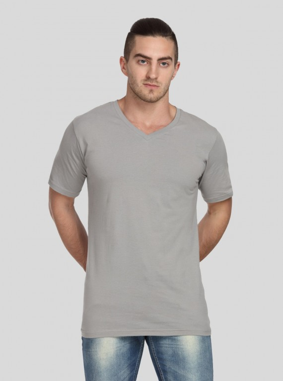 Grey Fonce V Neck TShirt