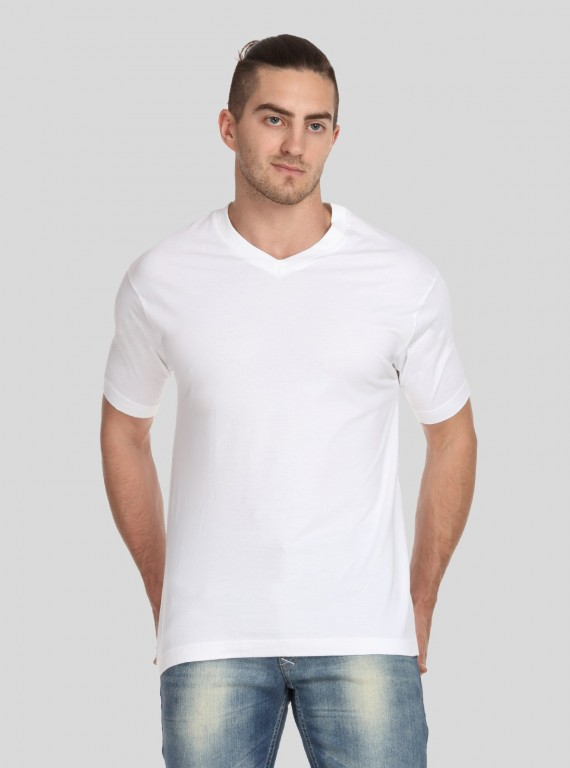 White V Neck TShirt