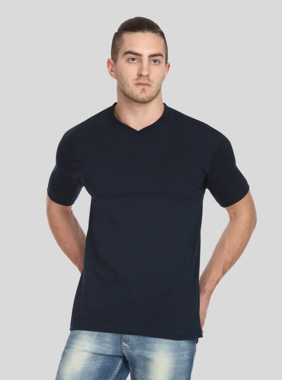 Navy Blue V Neck TShirt