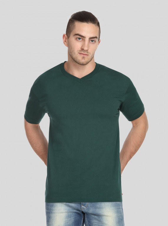 Deep Green V Neck TShirt