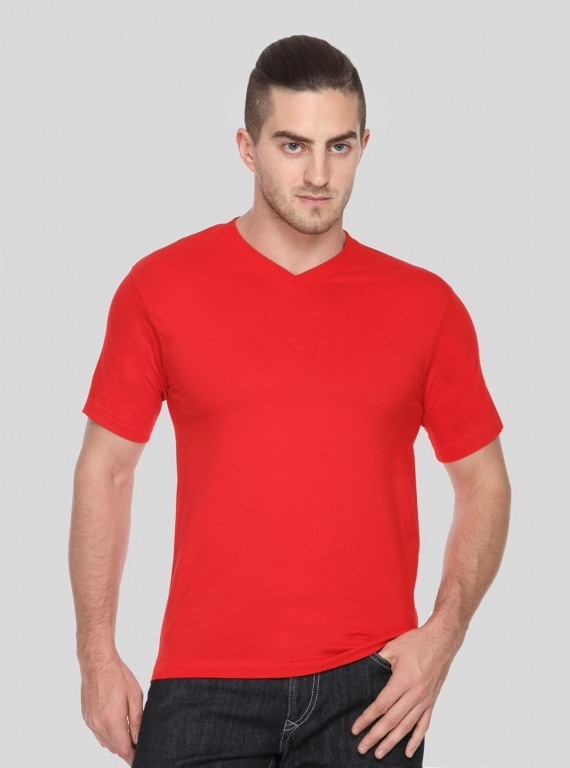 Red V Neck TShirt
