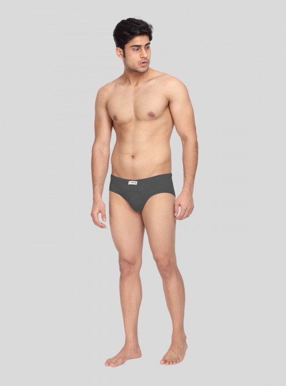 Charcol Melange jersey Brief - 2 Pack