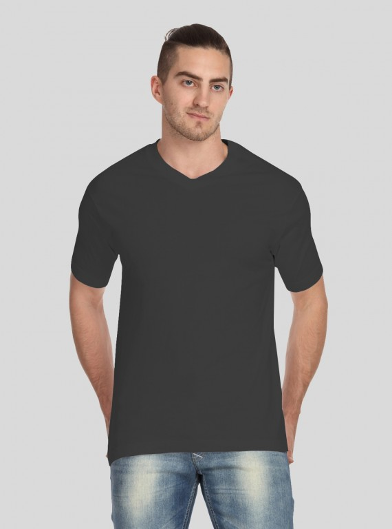 Dusted Grey V Neck TShirt