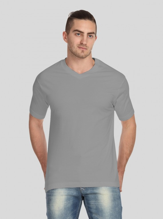 Light Grey V Neck TShirt