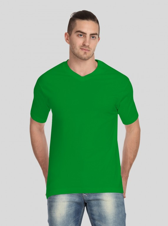Green V Neck TShirt