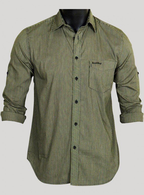 Slim Fit - Yellow Checked Shirt