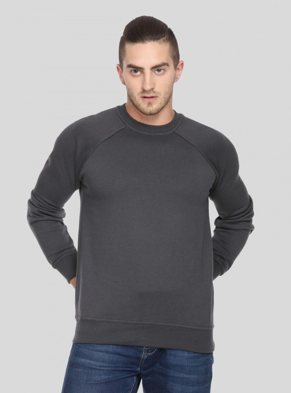 Charcol Melange Raglon Fleece Sweat Shirt