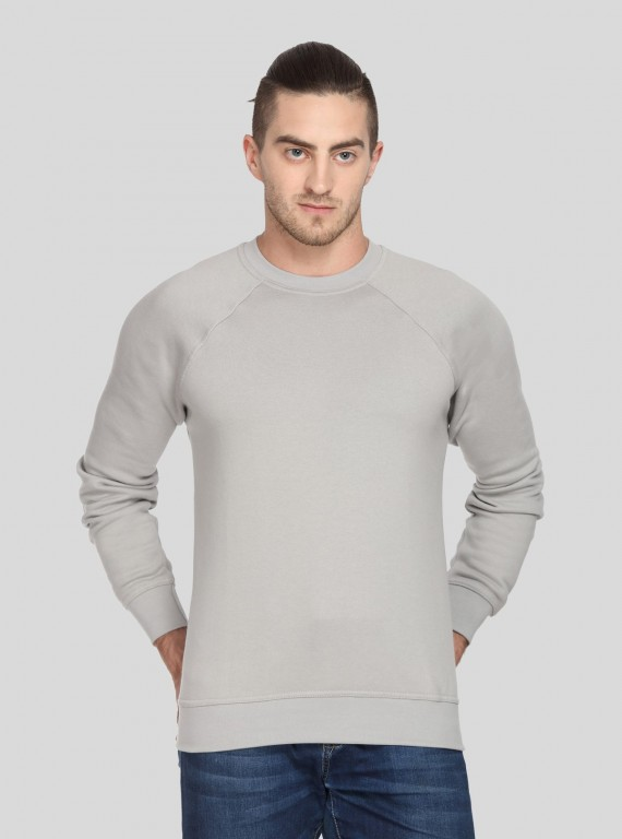 Grey Raglon Fleece Sweat Shirt
