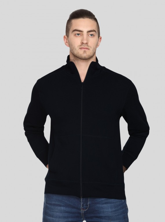 Black Full zipper Sweat Shirt