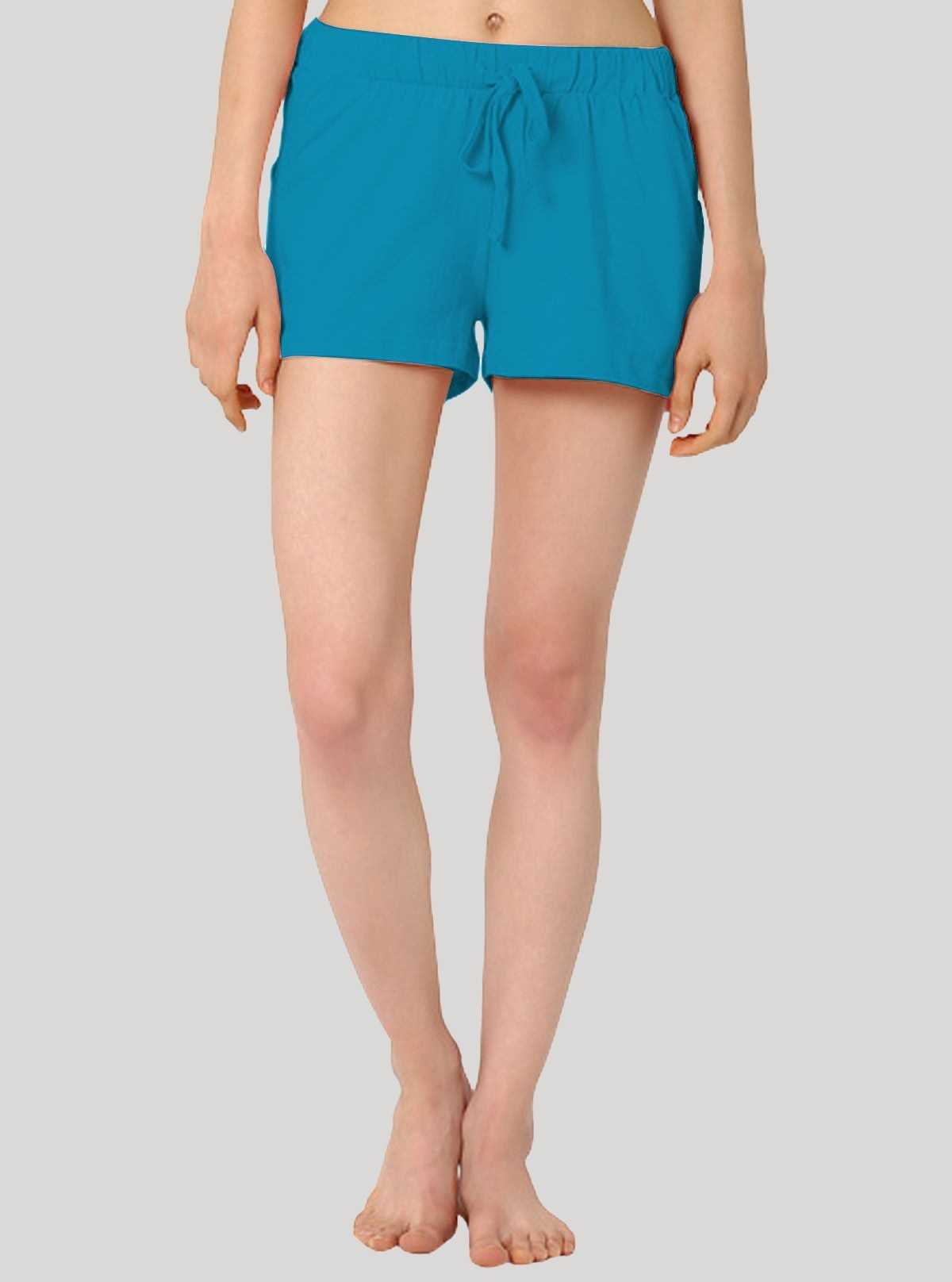 Turquiose Womens Shorts