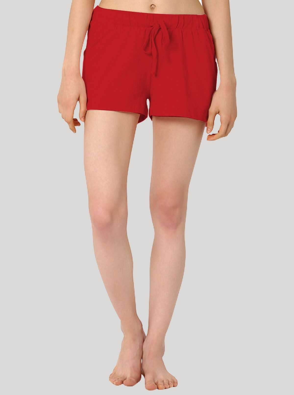 Red Womens Shorts