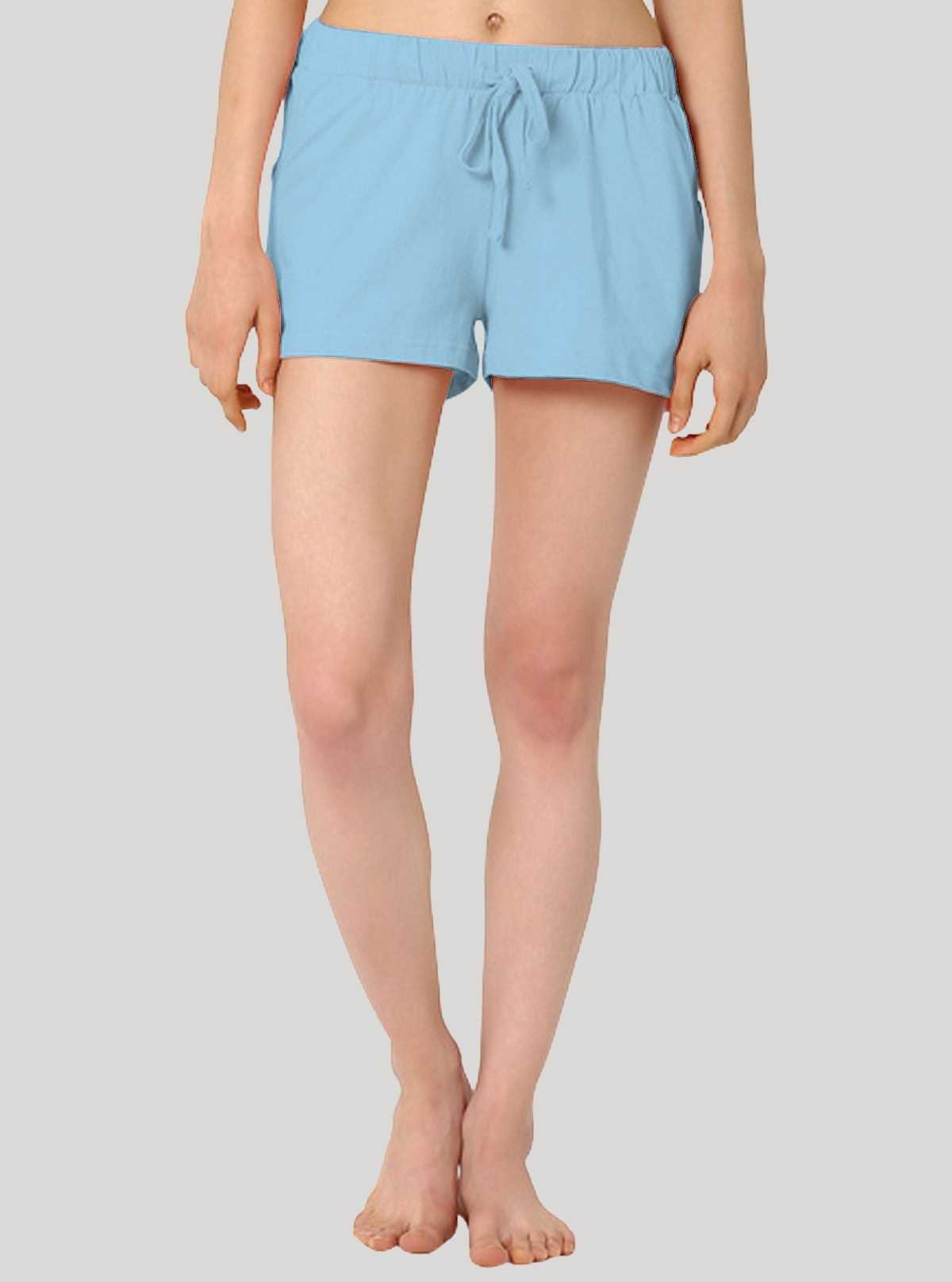 Sky Blue Womens Shorts