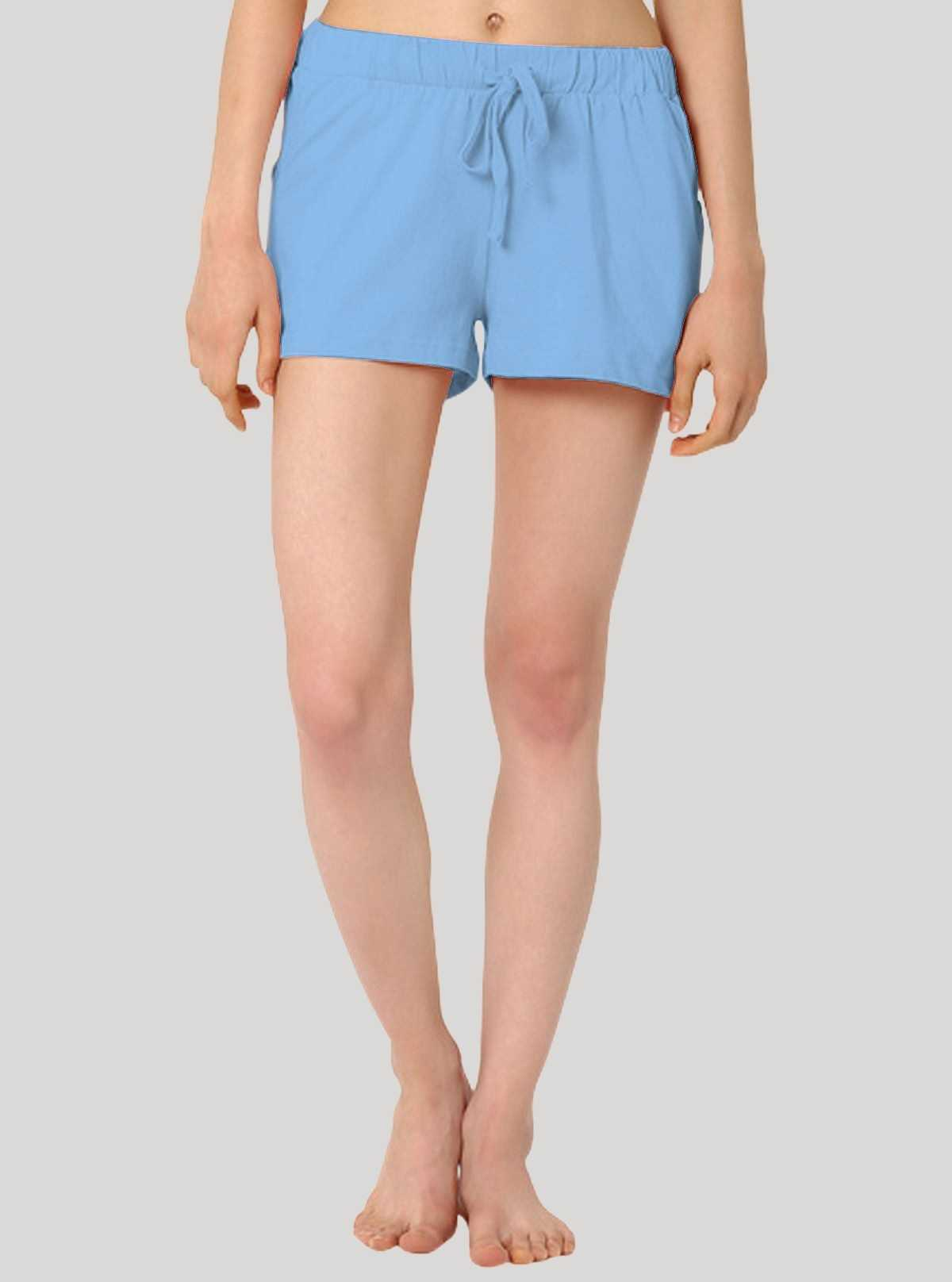 Light Blue Womens Shorts
