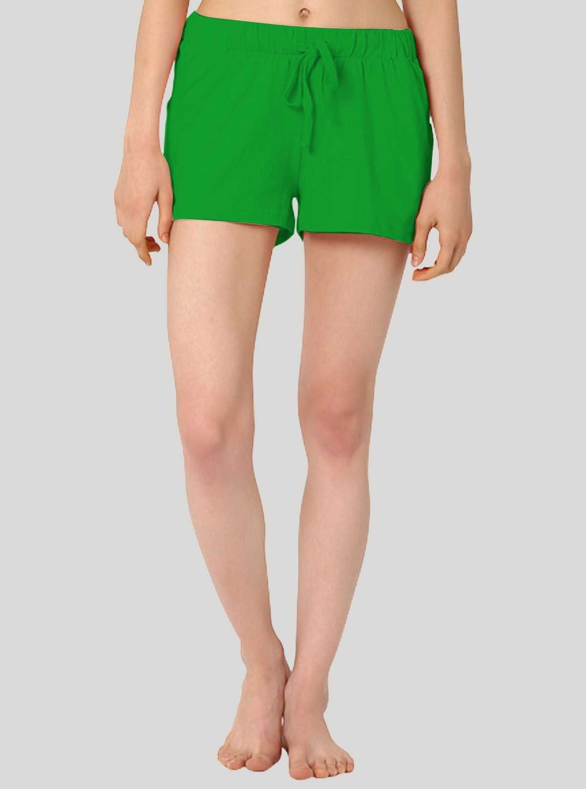 Green Womens Shorts
