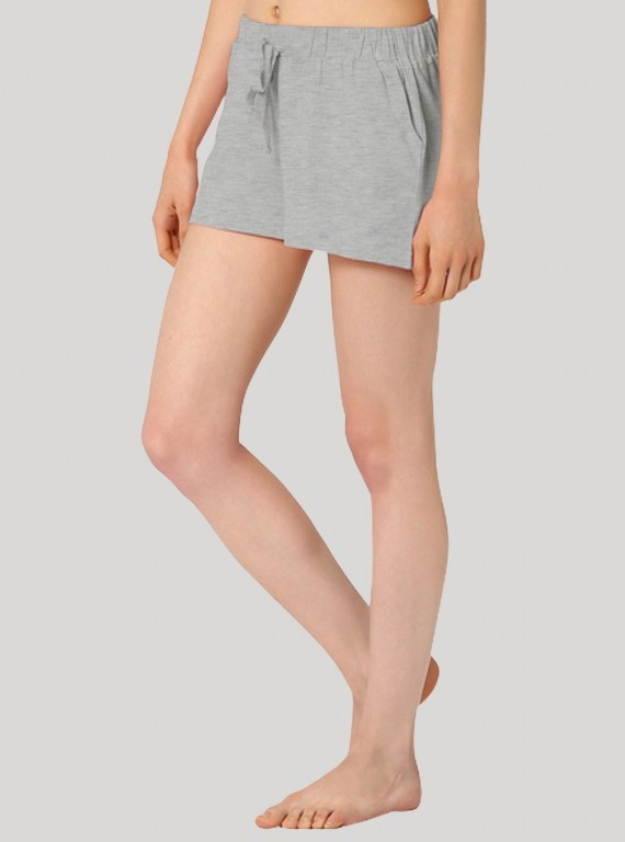 Grey Melange Womens Shorts