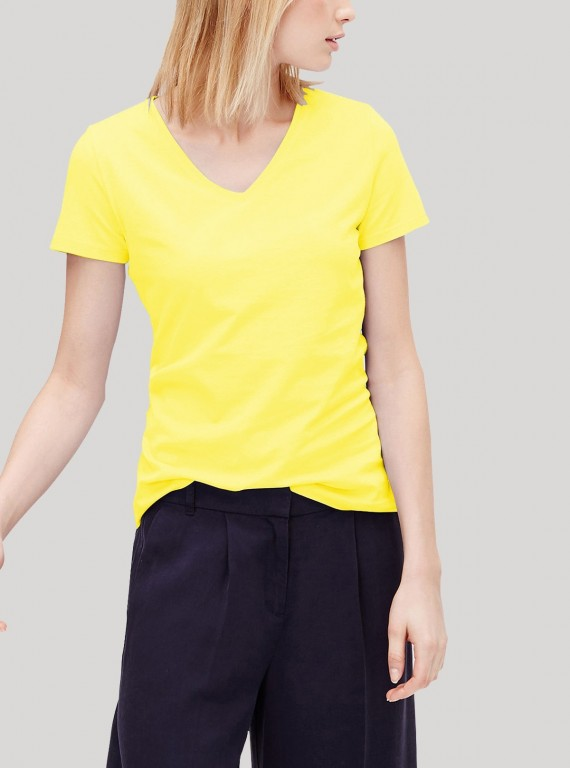 Yellow V Neck TShirt