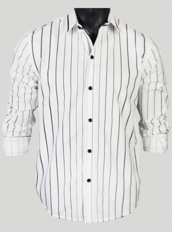 White Stripe Casual Shirt