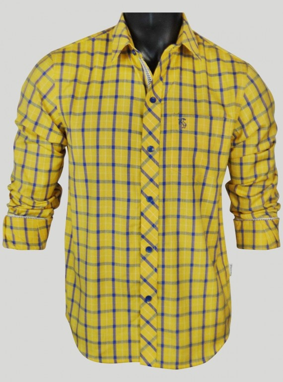 Regular Fit - Yellow Check...