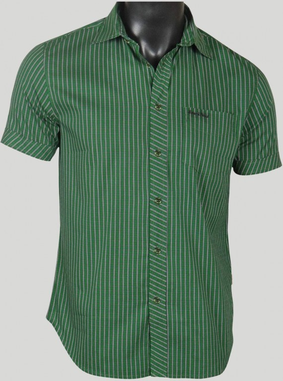 Slim Fit - Green Stripes Shirt