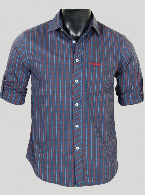 Slim Fit - Grey Multi Check...