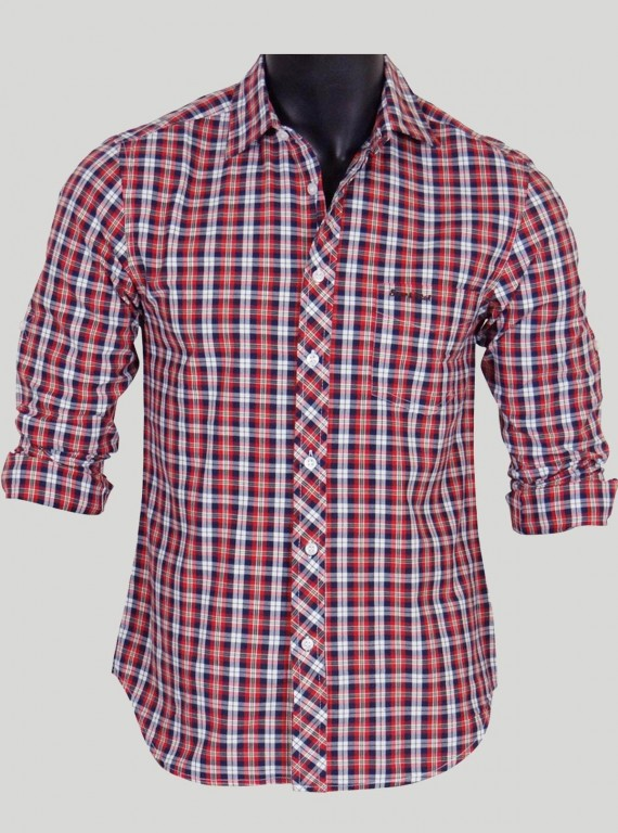 Slim Fit - Checkered Red Shirt