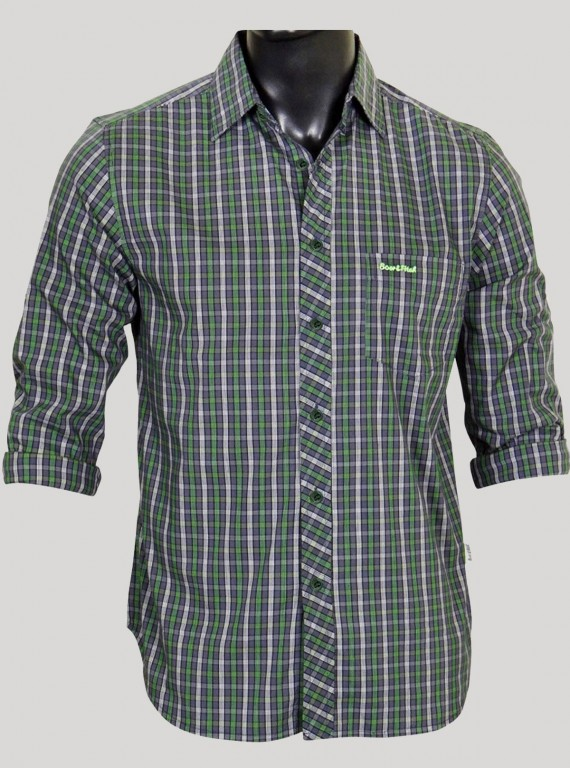 Slim Fit - Green Casual Shirt