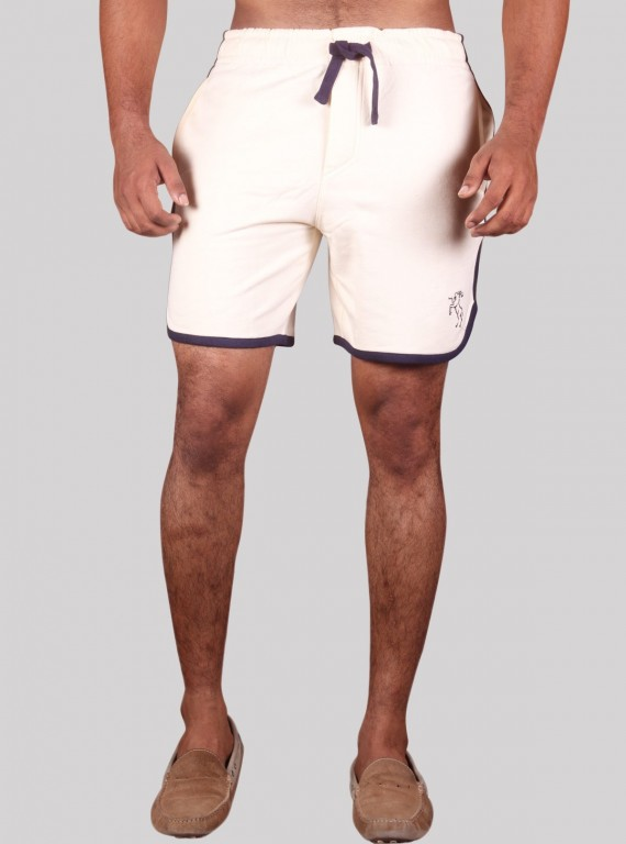 Ecru Fleece Shorts