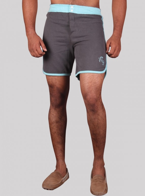 Blue Banded Fleece Shorts