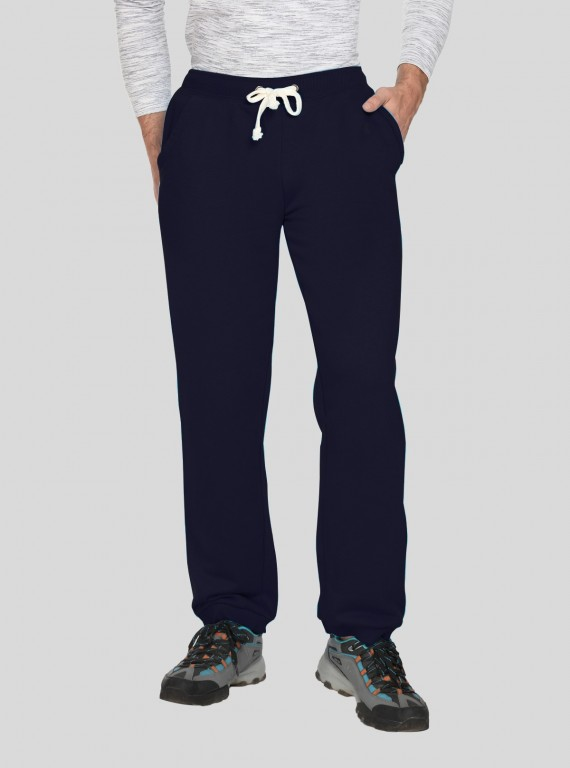 Navy Cuffed Fleece Jogger