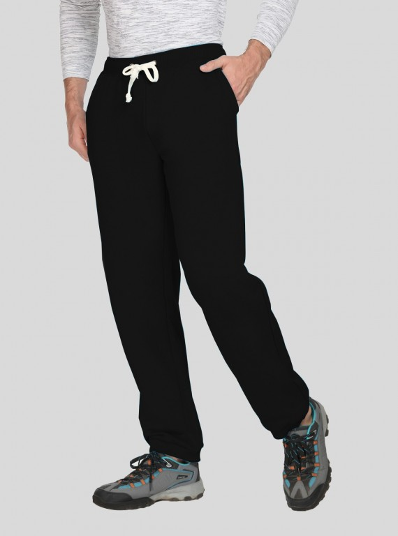 Black Cuffed Fleece Jogger