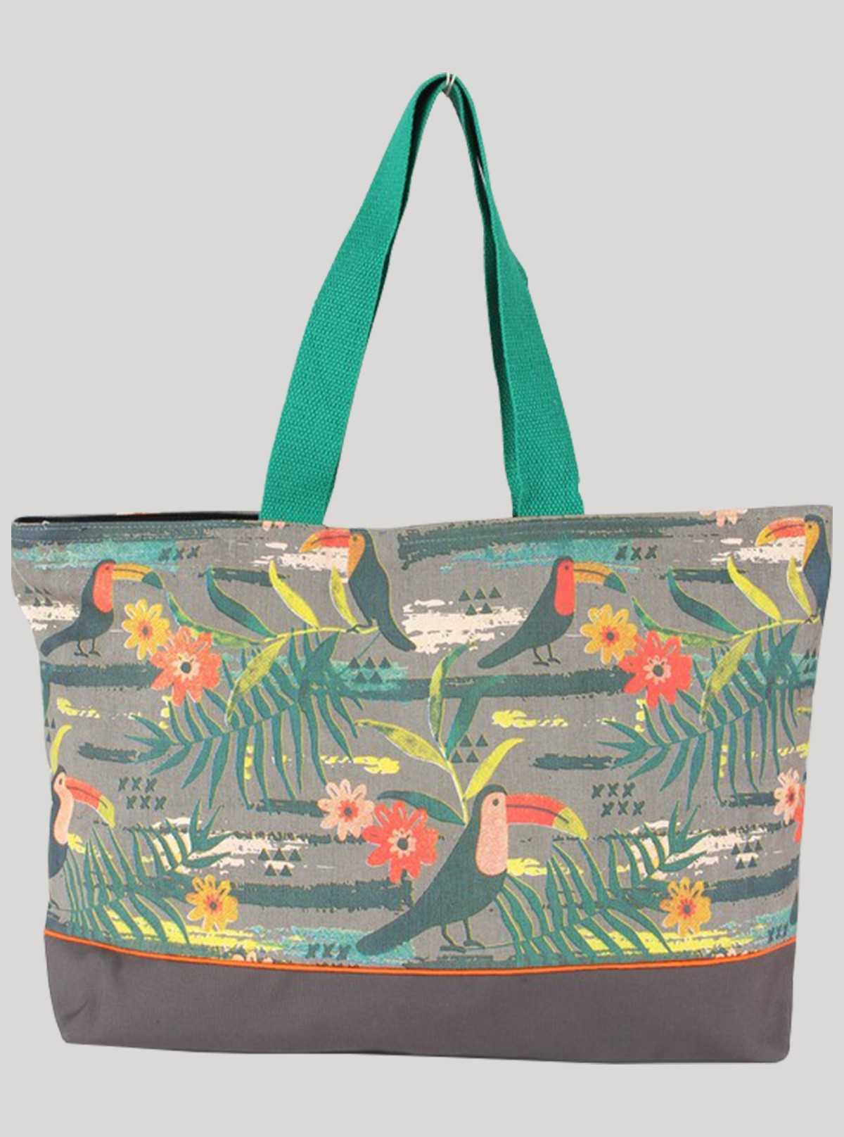 Green Hawai Print Bag