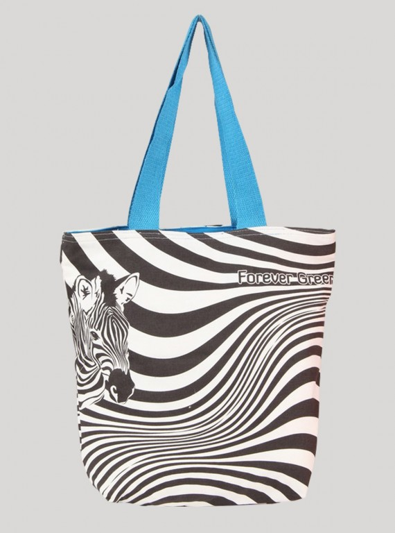 Zebra Graphic Print Bag