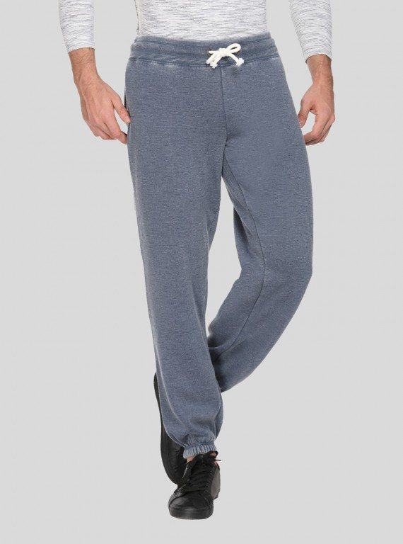 Faded Blue Cuffed Jogger