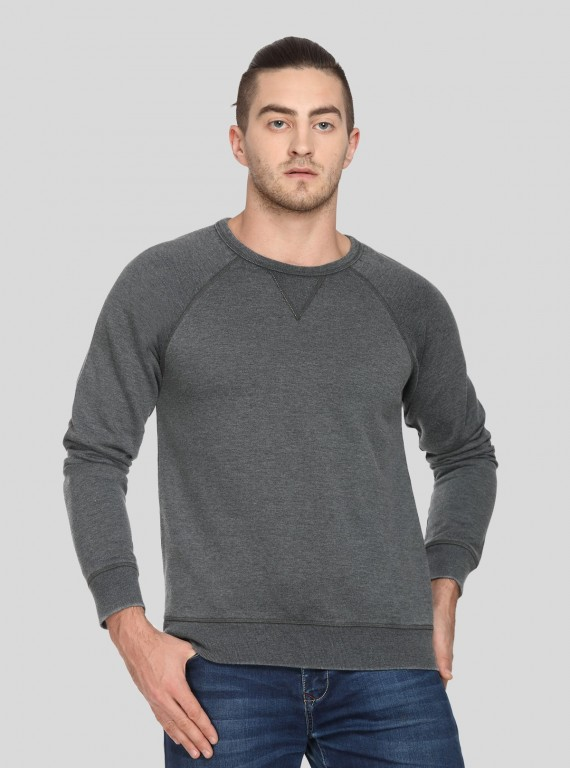 Charcol V Cut Fleece Sweat...